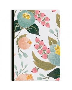 Blank Floral Cover Comp Ntbk