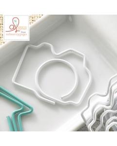 20-pc Paperclip Bulk: Camera White