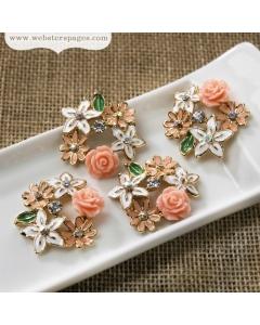 4-pc Charm: Floral Bouquet