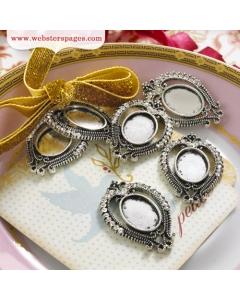 5-pc Charm: Jeweled Frame