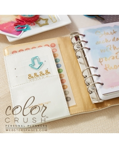 Personal Planner Kit : Classic White w/ GOLD rings (not silver as pictured)