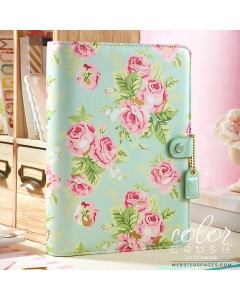A5 Mint Floral Binder Only