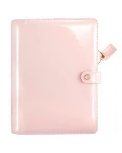 Patent Petal Pink A5 Binder