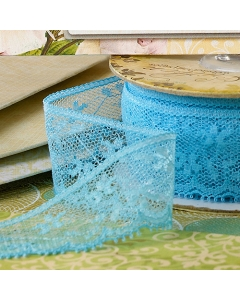 Accents} Ribbon- Blue Lace