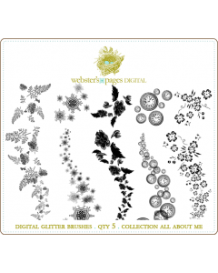 All About Me Digi Glitter Brushes