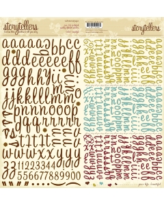 Alpha Stickers- Hello Beautiful