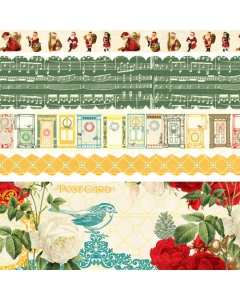 Botanical Christmas Fabric Ribbon