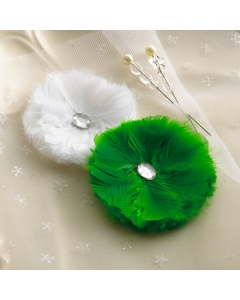 Botanical Christmas - Feather Flowers & Pins
