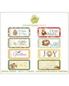 Botanical Christmas Digi Tickets