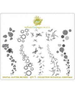 Botanical Christmas Digi Glitter Brushes