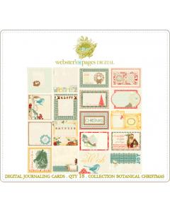 Botanical Christmas Digi Journaling Cards