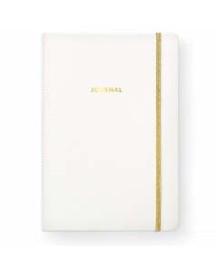 White PU Leather Journal
