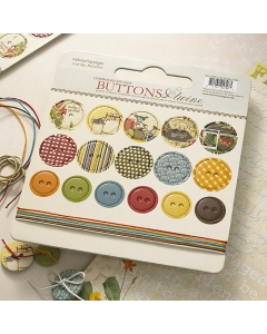 Spring Market- Chipboard Buttons & Twine