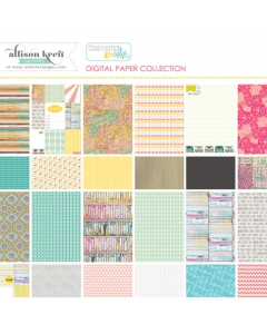 Composition & Color digital paper collection