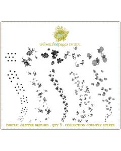 Country Estate Digi Glitter Brushes
