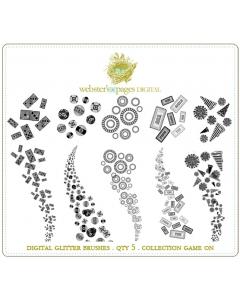 Game On Digi Glitter Brushes