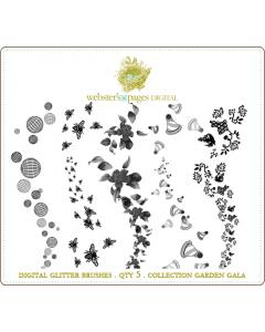 Garden Gala Digi Glitter Brushes