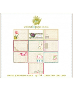 Girl Land Digi Journaling Cards