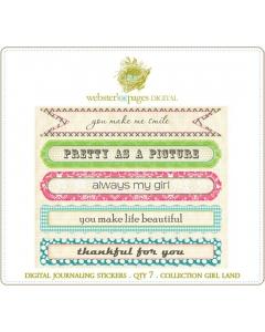Girl Land Journaling Stickers