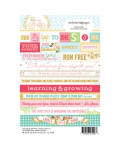 Growing up Girl Word Sticker