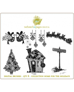Home for the Holidays Digi Brushes