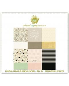 In Love Clean & Simple Papers Digi
