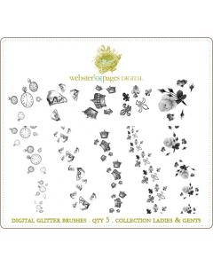 Ladies and Gents Digi Glitter Brushes