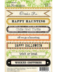 Once Upon A Halloween Sentiments