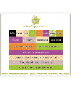 Once Upon A Halloween Word Block Stickers