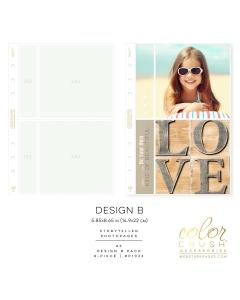 A5 Photo Sleeves Design B 8-pk