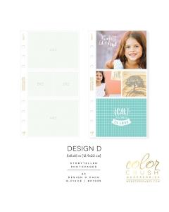 A5 Photo Sleeves Design D 8-pk