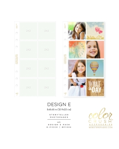 A5 Photo Sleeves Design E 8-pk