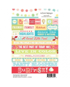Party Time Word Sticker