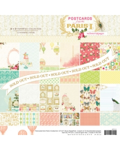 Postcards from Paris II 12x12 Collection Pad