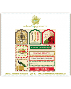 Royal Christmas Prompt Stickers