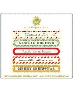 Royal Christmas Journaling Stickers