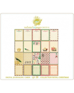 Royal Christmas Digi Journaling Cards