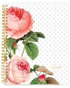 Spiral Ntbk - Floral Undated Calendar