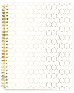 Spiral Ntbk - Gold Honeycomb blank