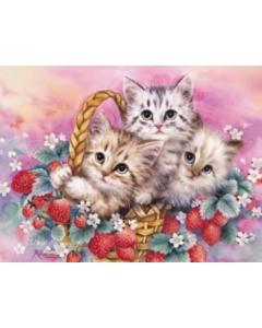 Strawberry Basket (Kittens)