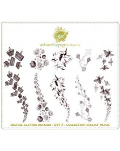 Sunday Picnic Digi Glitter Brushes
