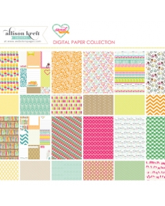 Sweet Notes digital paper collection