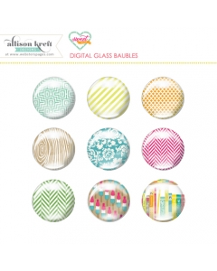 Sweet Notes digital glass baubles