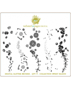 Sweet Season Digi Glitter Brushes