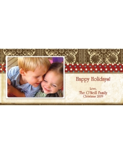 Happy Holidays 4x9 card