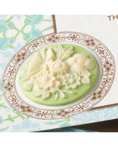 the SPRING AIR Accents } Cameos Green Floral