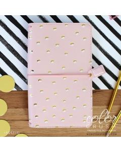Blush & Gold Foil Dot Travelers Notebook