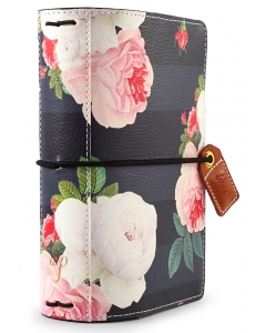 Black Floral Pocket Traveler
