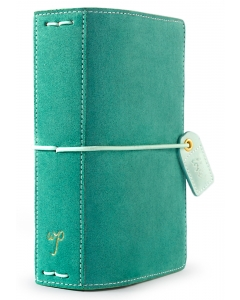 Aspen Green Suede Pocket Traveler