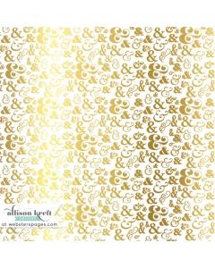 12x12 Vellum Gold &